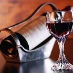 вино шардоне: бутылка, бокал
