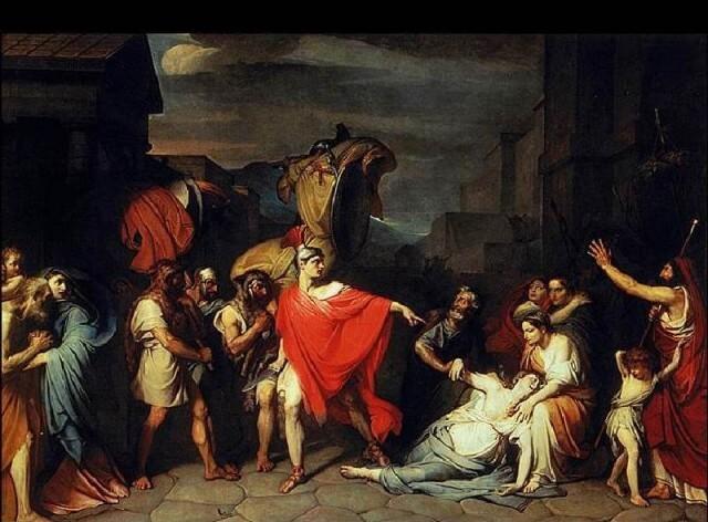 """Федор Бруни - """"Смерть Камиллы, сестры Горация"""" (1824) - стихи о смерти (иллюстрация)"""